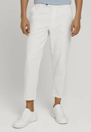 RELAXED - Chinos - beige white