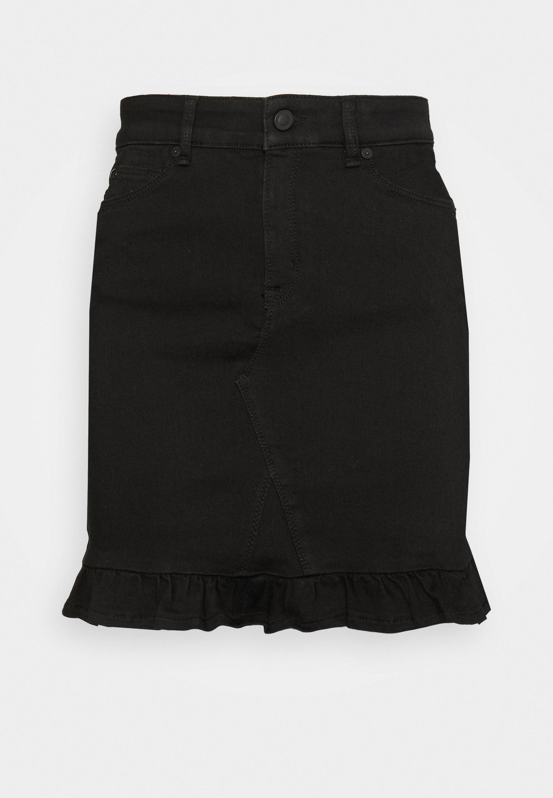 Limit Offer Cheap Women's Clothing Ivy Copenhagen ALEXA SKIRT Denim skirt black aTMQf0XVc