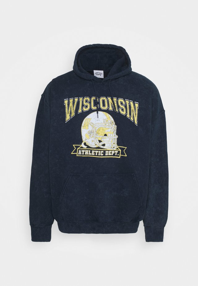 HOODIE WITH VARSITY GRAPHIC UNISEX - Sweater - snow washed navy