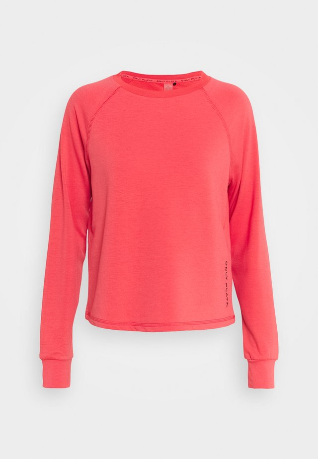 ONPPERFORMANCE CREW  - Sweater - coral/black
