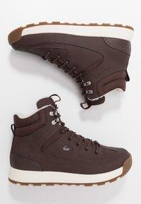 Lacoste - URBAN BREAKER - High-top trainers - dark brown/offwhite - 1