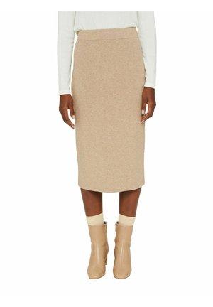 SKIRT - Pencil skirt - camel