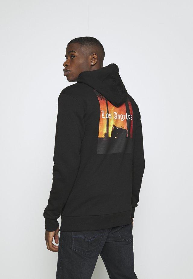LA HOOD - Hoodie - black