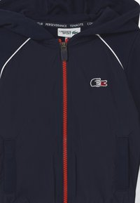 Lacoste Sport - OLYMP TRACK UNISEX - Zip-up hoodie - navy blue/white/red - 2