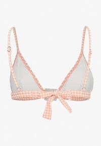 Topshop - SEERSUCKER RING - Bikiniöverdel - peach - 1