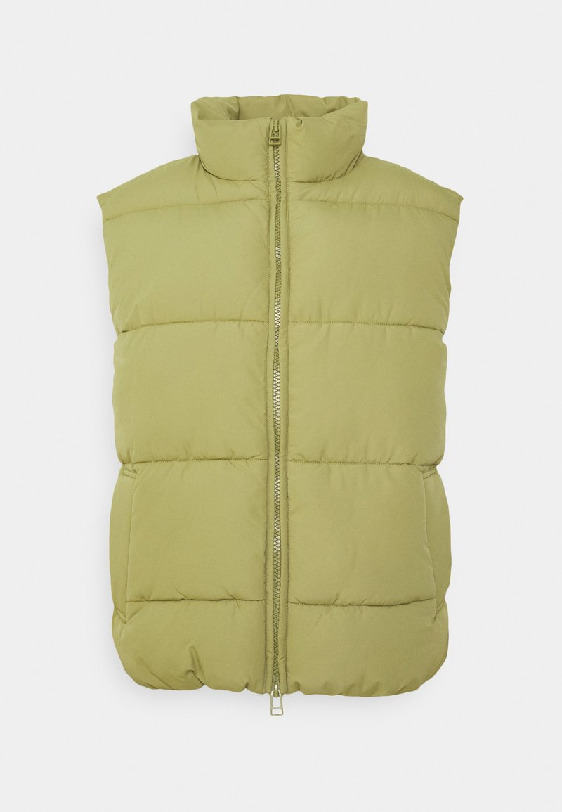 Monki - LACY VEST - Vest - khaki green dusty light