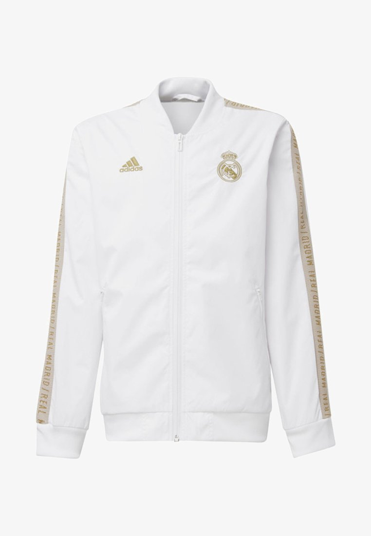 adidas Performance - REAL MADRID ANTHEM JACKET - Club wear - white