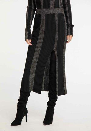 ROCK - Maxi skirt - black