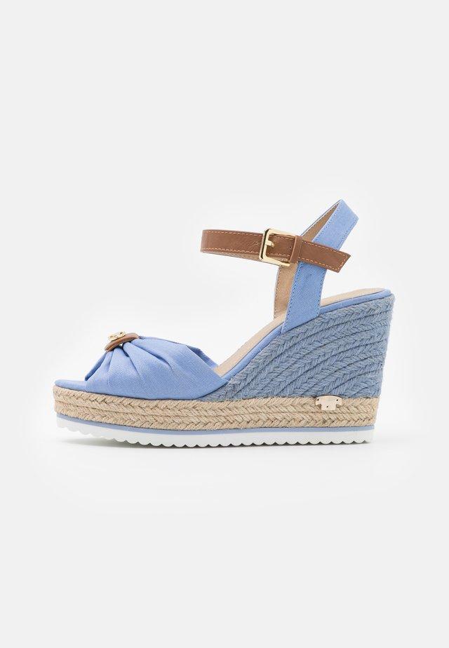 Sandalen met plateauzool - blue