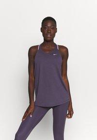 Nike Performance - DRY ELASTIKA TANK - Sports shirt - dark raisin/pink glaze - 0