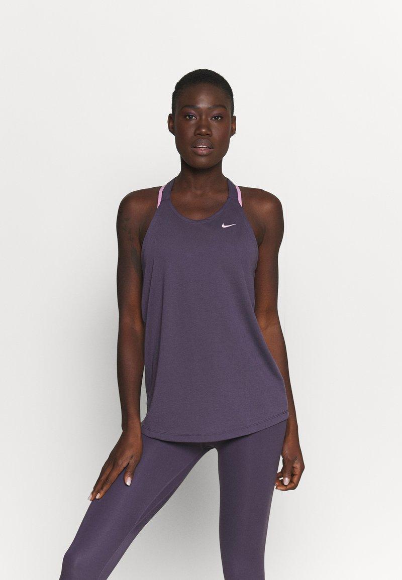 Nike Performance - DRY ELASTIKA TANK - Sports shirt - dark raisin/pink glaze