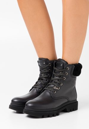 TELMA IGLOO - Lace-up ankle boots - black