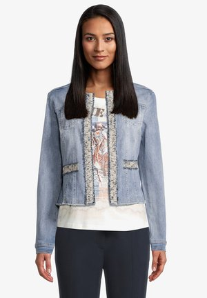 Denim jacket - blue bleached denim