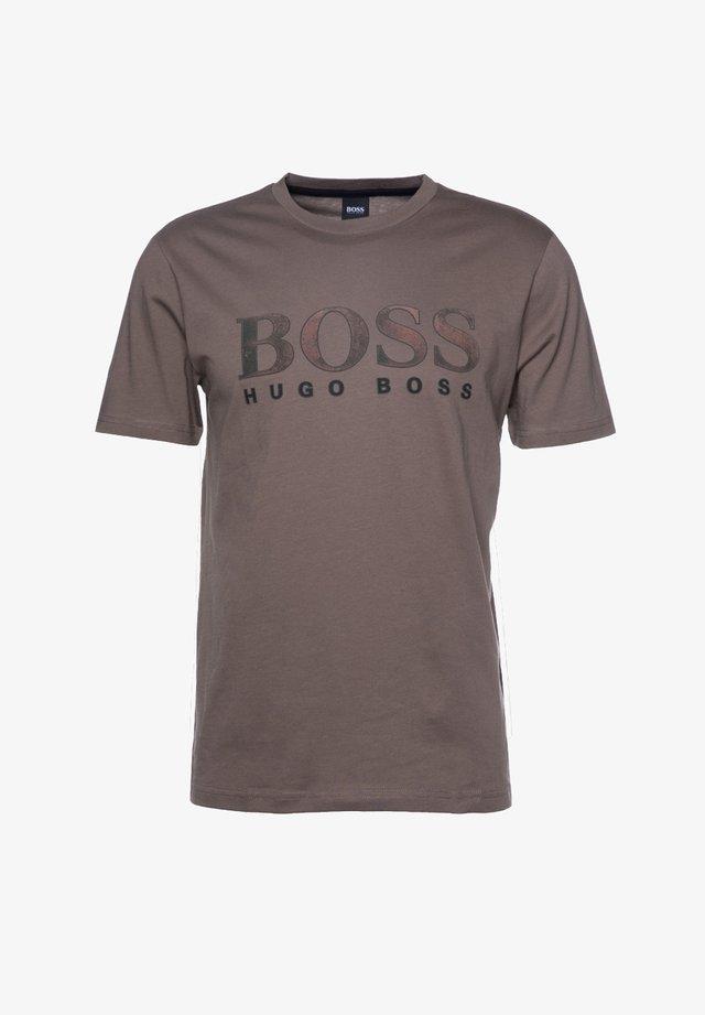 TLOGO - Print T-shirt - light brown