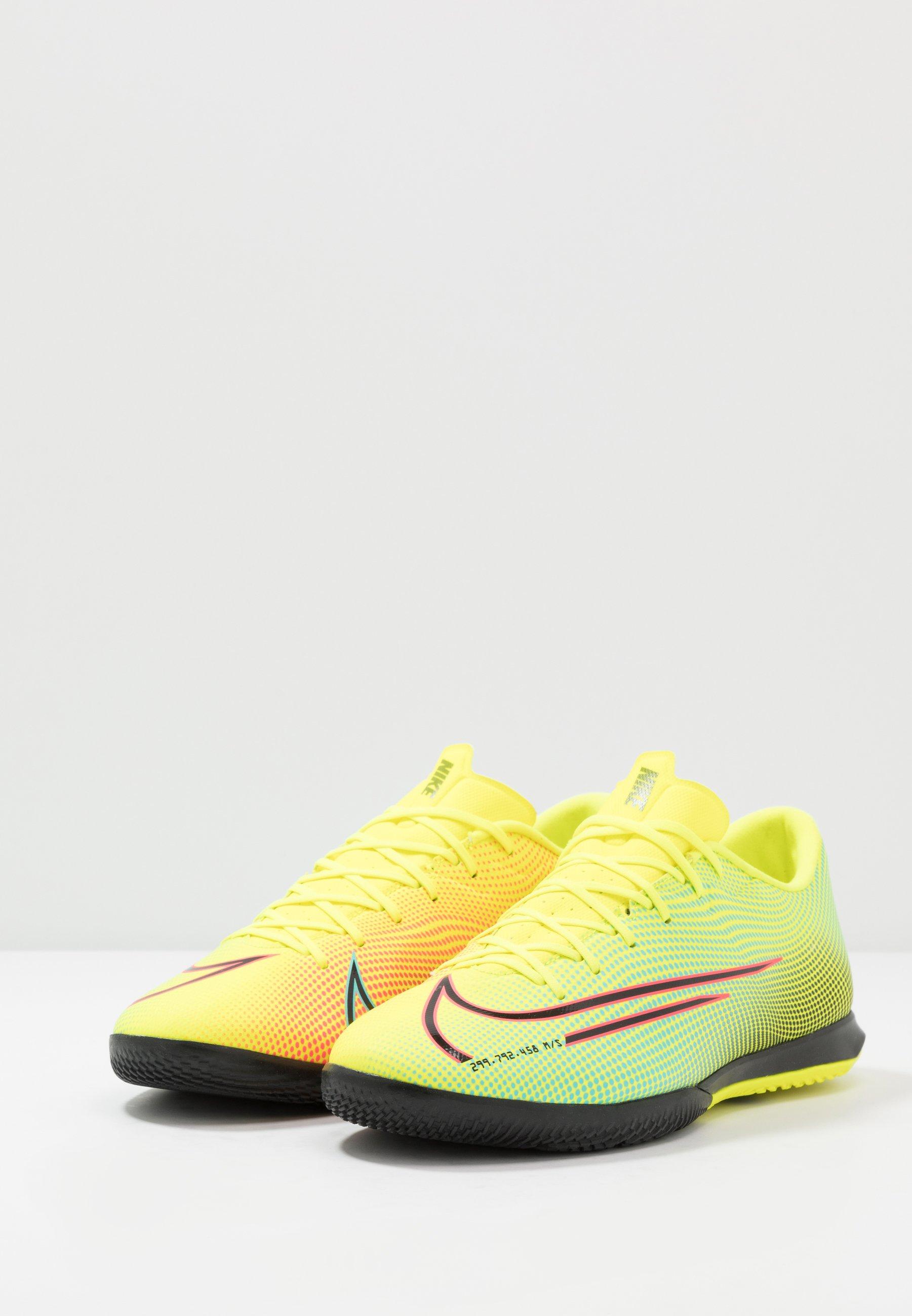 Nike Performance MERCURIAL VAPOR 13 ACADEMY MDS IC - Fußballschuh Halle - lemon/black/aurora green/gelb - Herrenschuhe yKnyJ