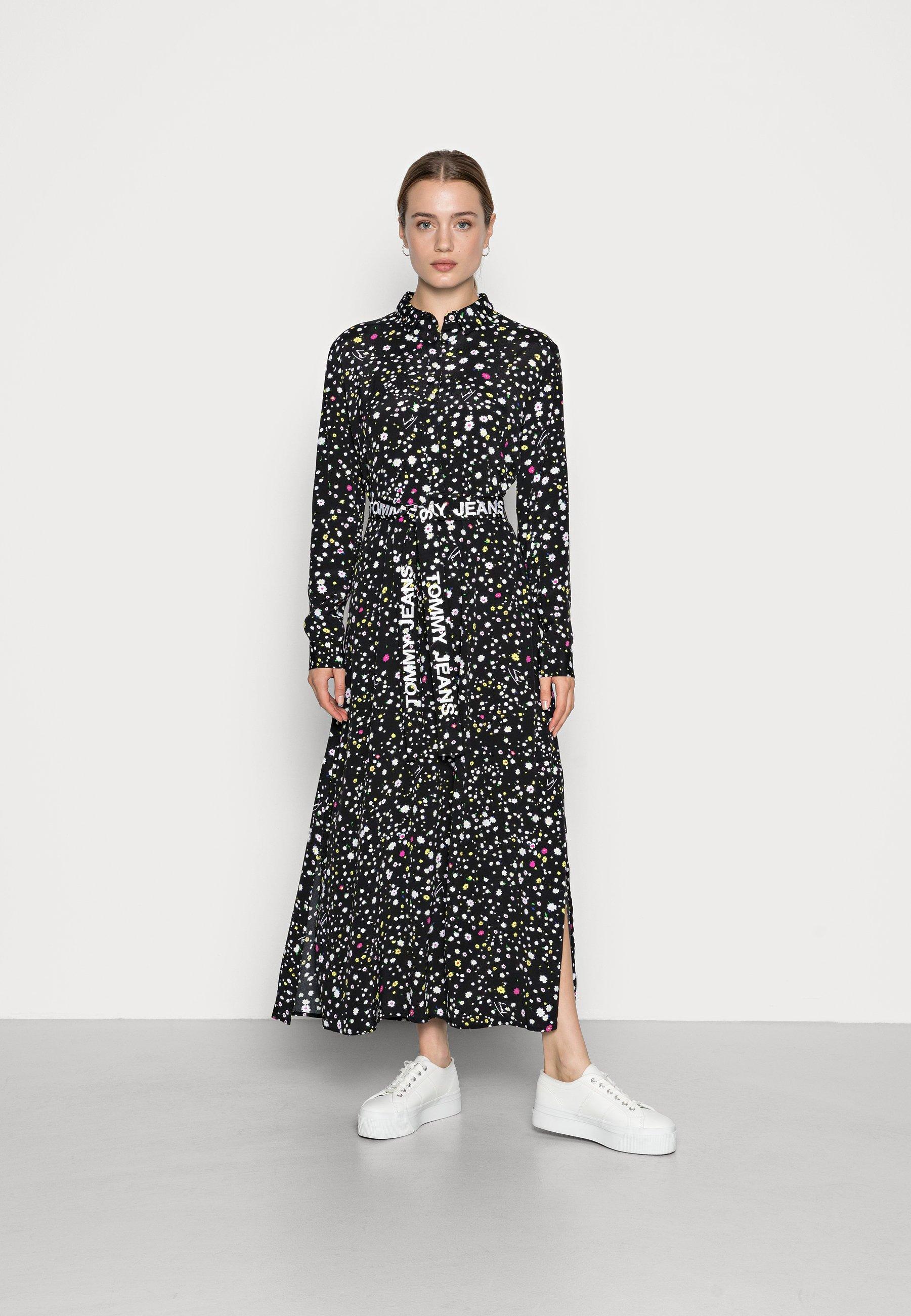 Women LONG MIDI DRESS - Shirt dress