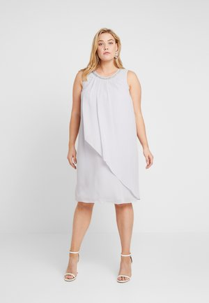 BILLIE AND BLOSSOM EMBELLISHED TRAPEZE DRESS - Cocktailjurk - light grey