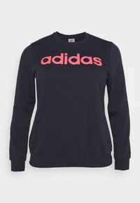 adidas Performance - ESSENTIALS PRIMEGREEN SPORTS - Sweatshirt - legend ink/signal pink - 0