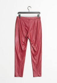 Mango - Leather trousers - red - 1