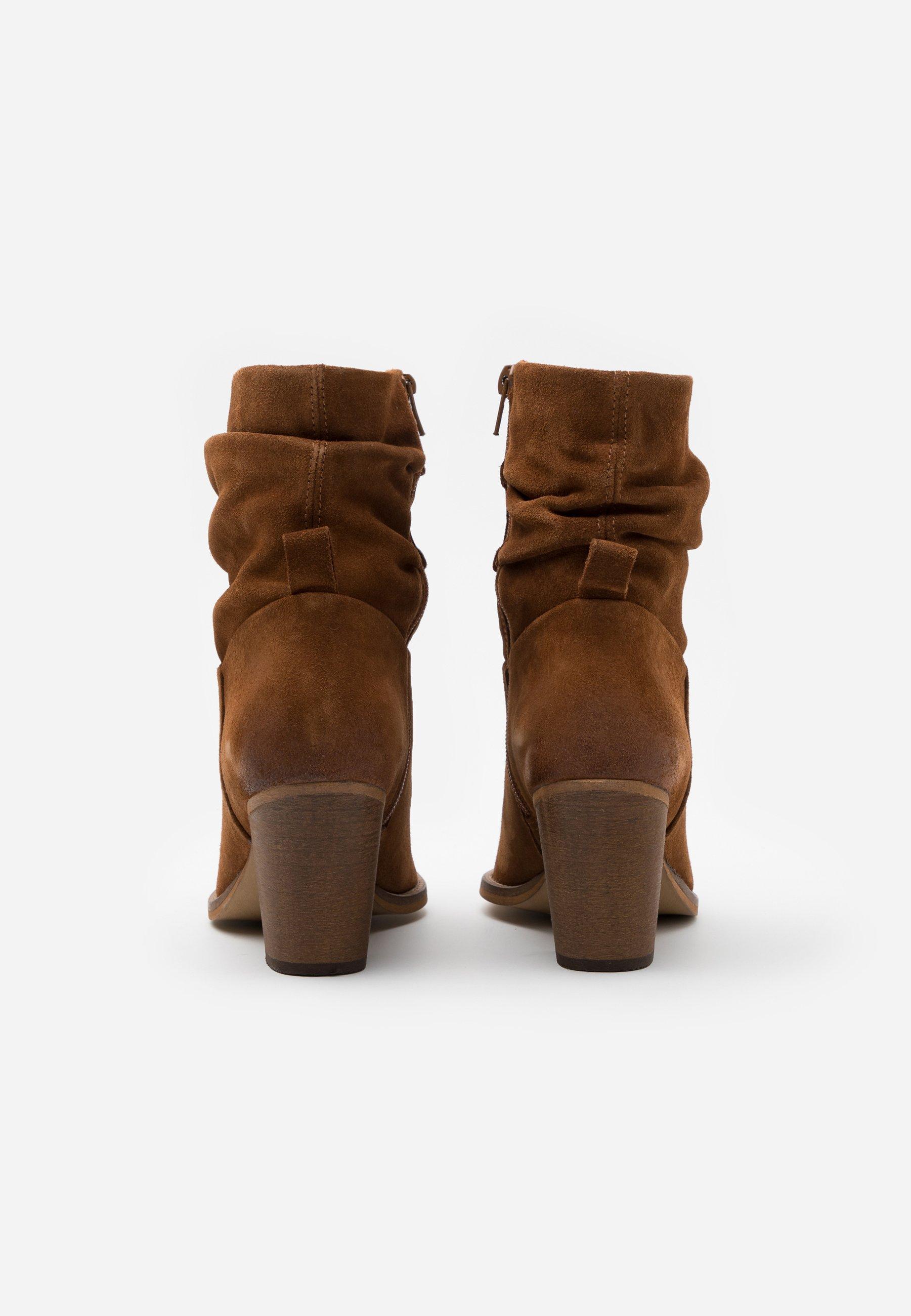 Anna Field LEATHER ANDREAS - Snørestøvletter - brown