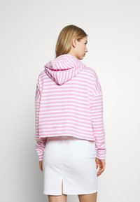 Tommy Jeans - STRIPE HOODIE - Sweat à capuche - pink daisy/white - 2