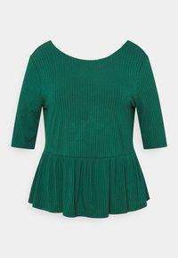 CAPSULE by Simply Be - PEPLUM HEM - Long sleeved top - palm green - 0