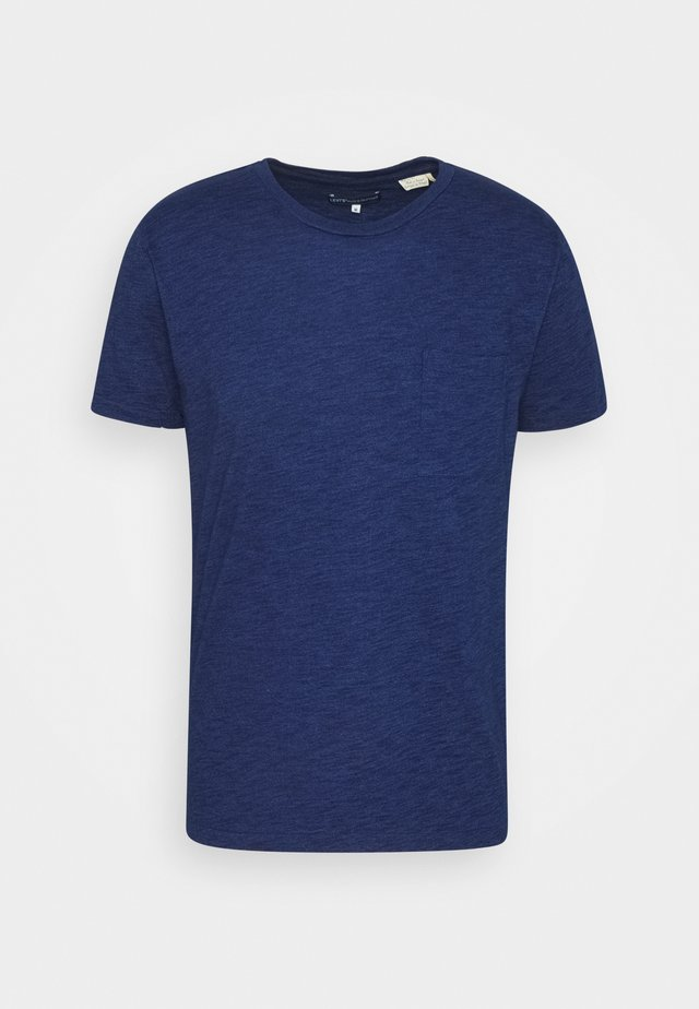 POCKET TEE - T-shirt basic - washed blue indigo