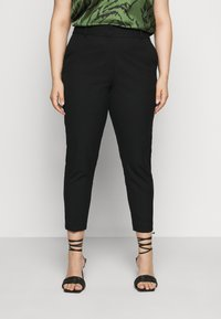 Selected Femme Curve - SLFDRIA CROPPED PANT - Trousers - black - 0