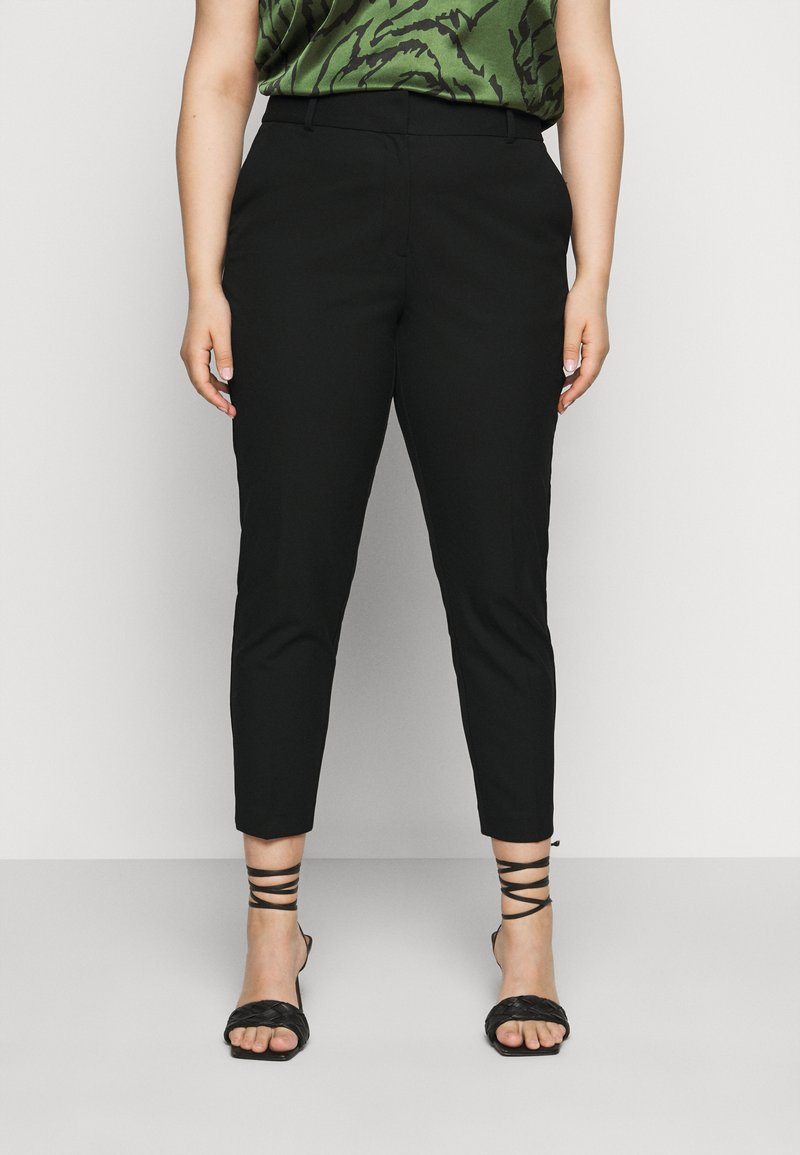 Selected Femme Curve - SLFDRIA CROPPED PANT - Trousers - black