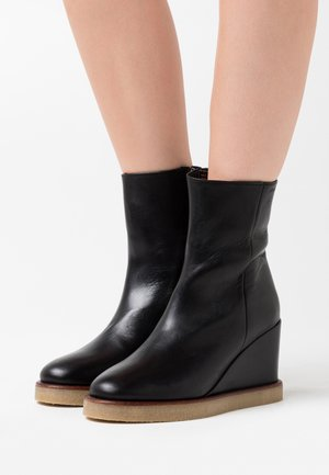 CELINA - High heeled ankle boots - black