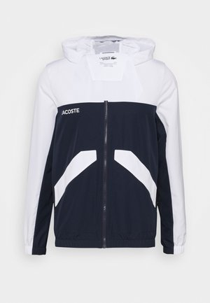 TRACK JACKET - Training jacket - white/navy blue