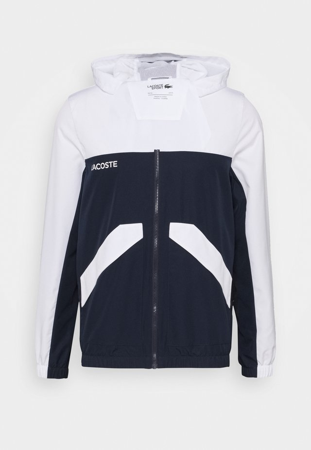 TRACK JACKET - Veste de survêtement - white/navy blue