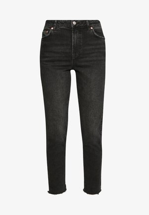 PCNIMA - Straight leg jeans - black denim