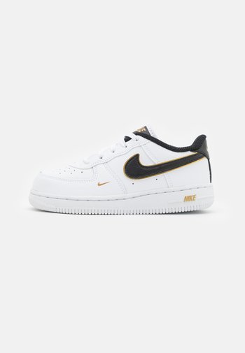 FORCE 1 - Trainers - white/black/metallic gold