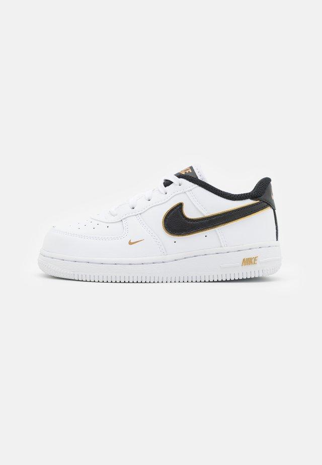 FORCE 1 UNISEX - Sneakers laag - white/black/metallic gold
