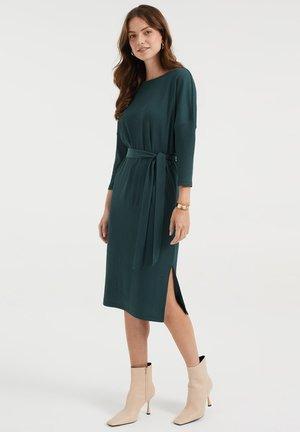 Day dress - moss green