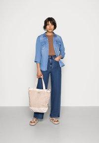 Vila - VIBISTA DENIM SHIRT - Button-down blouse - medium blue denim - 1