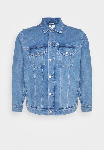 PRIDE PLUS GRAPHIC JACKET - Denim jacket - denim medium