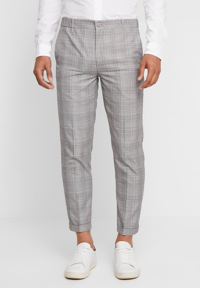 OVER CHECK TROUSER - Tygbyxor - grey
