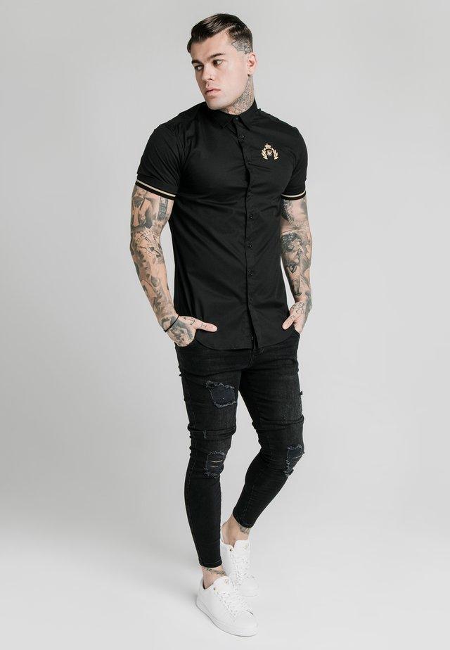 PRESTIGE INSET CUFF  - Shirt - black