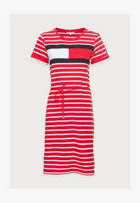 Tommy Hilfiger - ABO REGULAR T-SHIRT DRESS - Jersey dress - classic brenton/primary red - 4