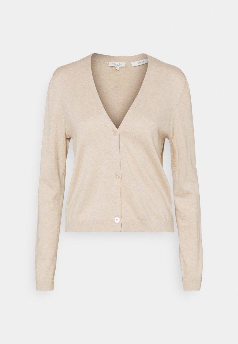 mine to five TOM TAILOR - CARDIGAN V-NECK - Cardigan - beige melange