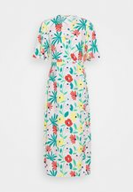 FLORAL WRAP DRESS WITH TIED DETAIL - Denní šaty - bright multi
