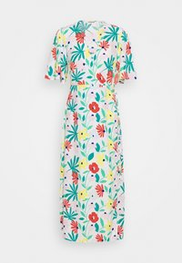 FLORAL WRAP DRESS WITH TIED DETAIL - Day dress - bright multi