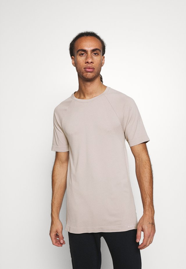 SHORT SLEEVE TRAINING  - Basic T-shirt - beige