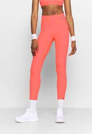 FASTER 7/8 - Leggings - bright mango/gunsmoke