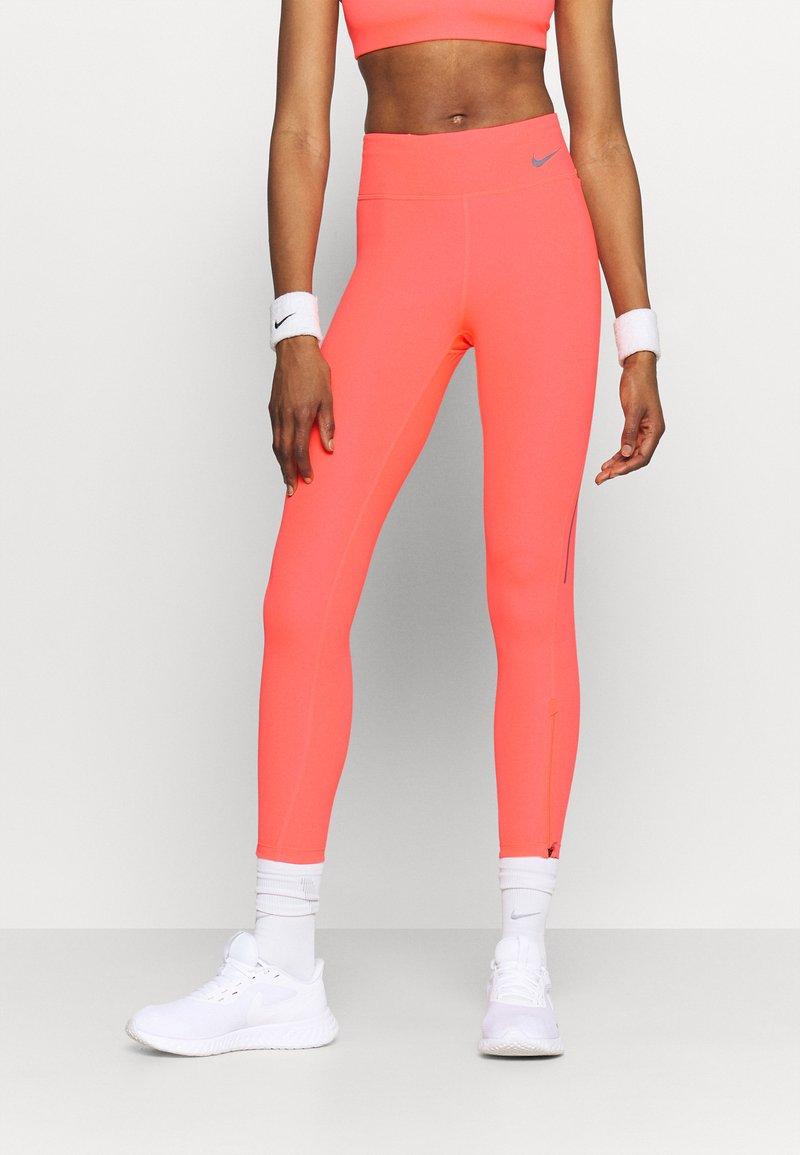 Nike Performance - FASTER 7/8 - Tights - bright mango/gunsmoke