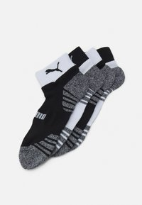 Puma - MEN SEASONAL QUARTER 4 PACK - Sports socks - black/white - 0