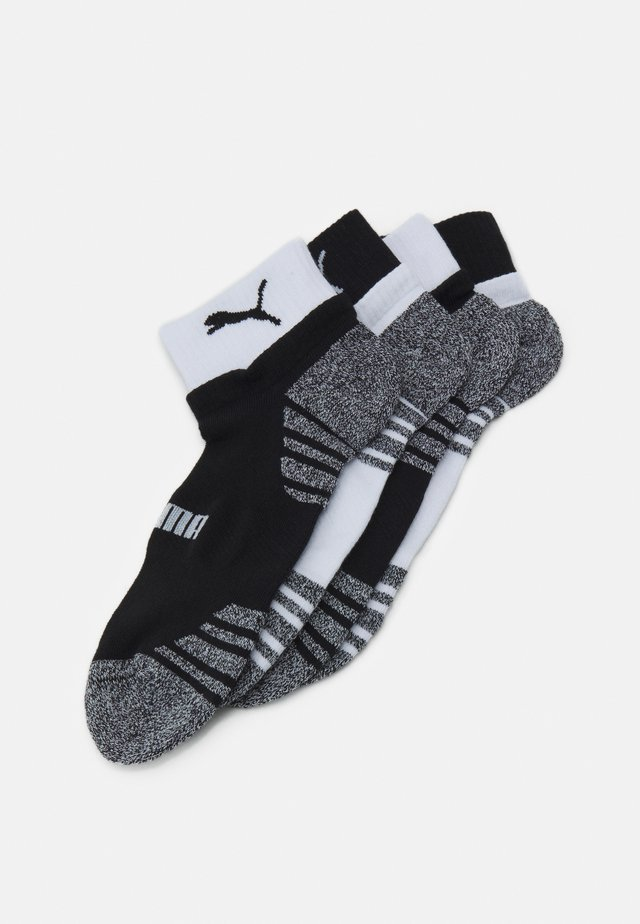 MEN SEASONAL QUARTER 4 PACK - Sportovní ponožky - black/white