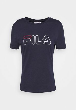 LADAN - Print T-shirt - black iris